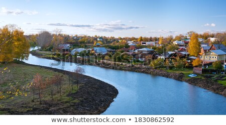 river in old russian town suzdal stock photo © mahout