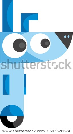 Cartoon robot perro sesión antena Foto stock © blamb