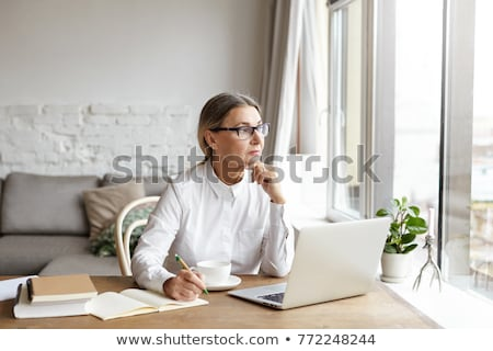woman experiencing writers block stock photo © photography33