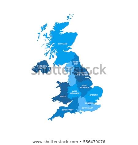 地図 · アイルランド · 国 · 白 - ストックフォト © claudiodivizia