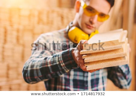 Workman holding a plank Stock photo © photography33