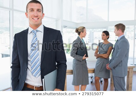 A team of businessmen holding folders Stock photo © photography33