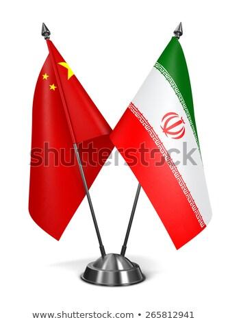 miniatura · bandeira · Irã · isolado - foto stock © bosphorus