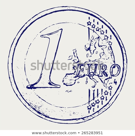 One euro coin sketch stock photo © sifis