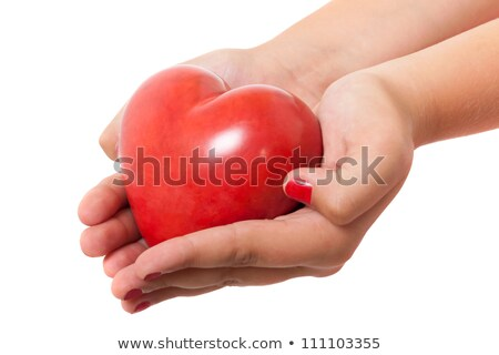 young woman holding a small red heart stock photo © photography33