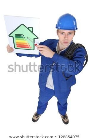 Elektriker Ebene Energie Verbrauch Haus Stock foto © photography33
