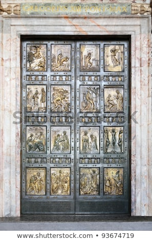 The Holy Door At St Peters Basiica Stock fotó © cosma