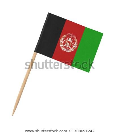 Minyatür bayrak Afganistan yalıtılmış toplantı Stok fotoğraf © bosphorus