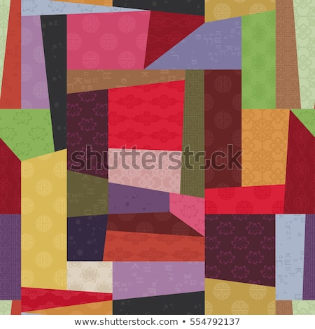 vector colorful patchwork art background Stock photo © freesoulproduction