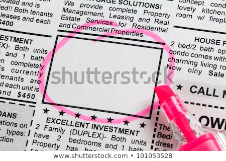 advertentie · krant · business · papier - stockfoto © devon