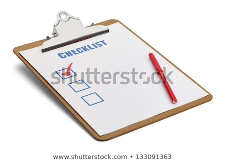 Stock photo: Clipboard with Checklist and  Pen