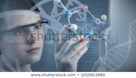 Moleculair model laboratorium technologie groene bal Stockfoto © BrunoWeltmann