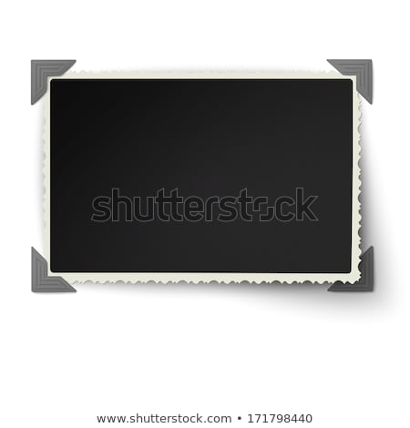 one blank picture with photo corners stock photo © melking