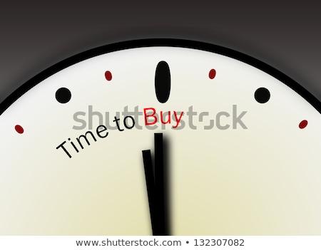 compras · tempo · jovem · feliz · mulher - foto stock © stockyimages