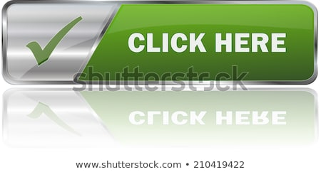 free green button and pointer hand stock photo © donskarpo