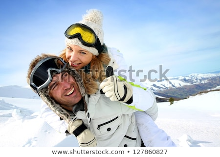 Couple on skiing holiday Stock photo © photography33