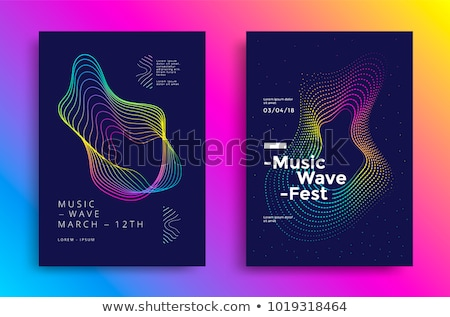 Abstract vector shiny background design with sound waves. Stock photo © articular