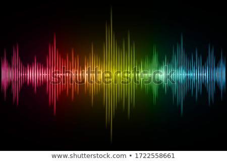 abstract vector shiny background with speakers and sound waves stock photo © articular