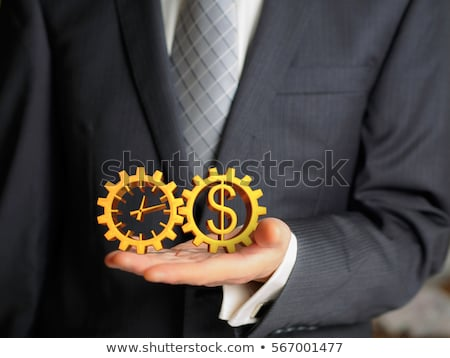 hand holding a dollar 3d sphere stock photo © kbuntu