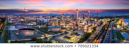 Night view of a petrochemical refinery Stock photo © broker