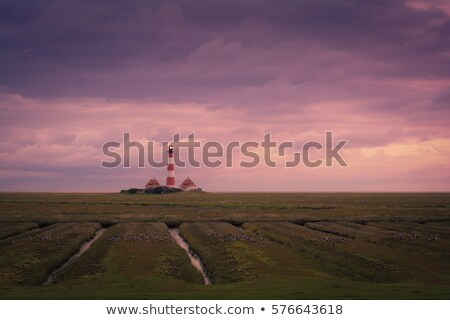 Lighthouse at Sundown stock photo © Kenneth_Keifer