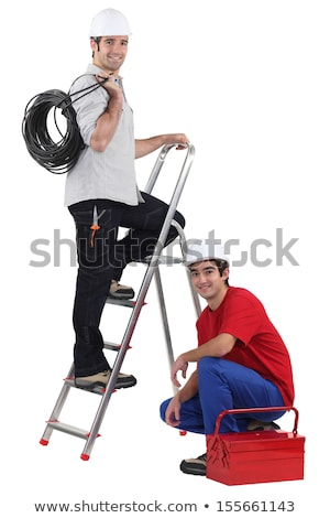 duo of electricians in studio Stock photo © photography33