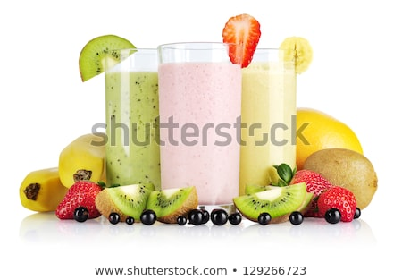 gelado · morango · xarope · leite - foto stock © broker