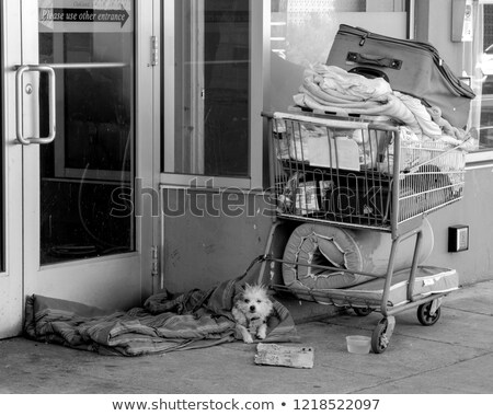 Homeless and Helpless B&W Stock photo © lisafx