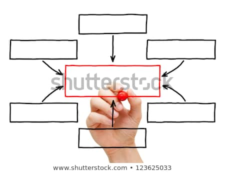 Stock foto: Leadership Flow Chart Red Marker