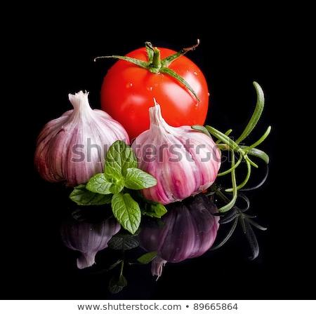 Pomodori aglio nero succosa rosso lampadina Foto d'archivio © lisafx