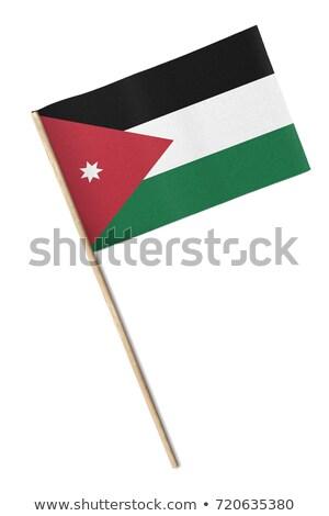 Miniatura banderą Jordania odizolowany Zdjęcia stock © bosphorus