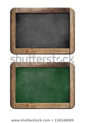 piccolo · lavagna · legno · isolato · bianco · istruzione - foto d'archivio © DenisNata