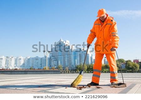 limpador · cidade · primeiro · plano · limpeza · máquina · água - foto stock © pedrosala