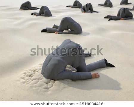 Buraco cabeça imagem cartão silhueta pessoa Foto stock © Stocksnapper