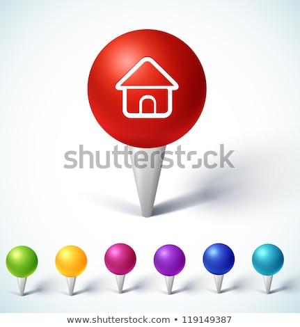 Viaje iconos color círculos aislado Foto stock © lkeskinen