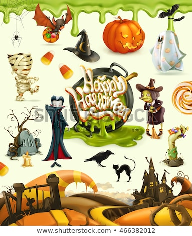 Halloween karakter illustratie cartoon grappig griezelig Stockfoto © benchart