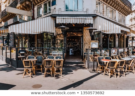 cafe terrace in paris stock photo © jakatics