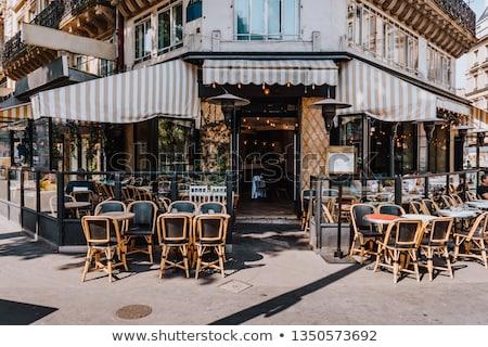 Cafe terrace in Paris Stock photo © jakatics