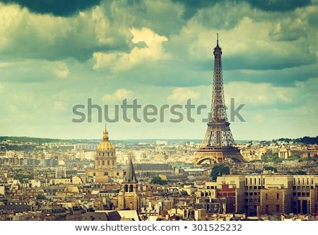Eyfel Kulesi Paris üzerinde Bina nehir Stok fotoğraf © timwege