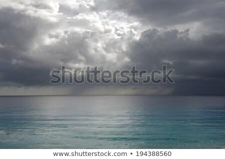 Vihar Cancun trópusi tenger Mexikó tengerpart Stock fotó © MojoJojoFoto