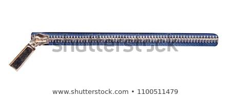 ジッパー 孤立した 白 布 ミシン 繊維 ストックフォト © kornienko