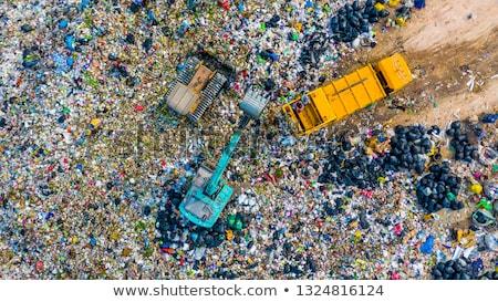 Buldózer szemét teherautó szeméttelep szemét helyszín Stock fotó © Rob300