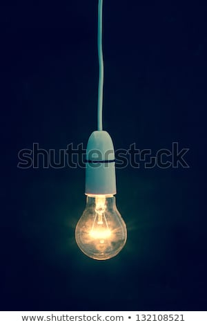 Bulb light over black Stock photo © antonprado
