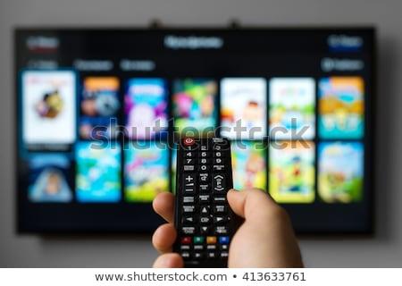 Plein hd télévision blanche Photo stock © manaemedia