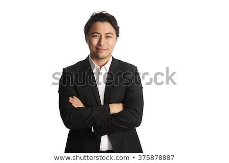 молодые · бизнесмен · рук · белый · лице · Sexy - Сток-фото © wavebreak_media