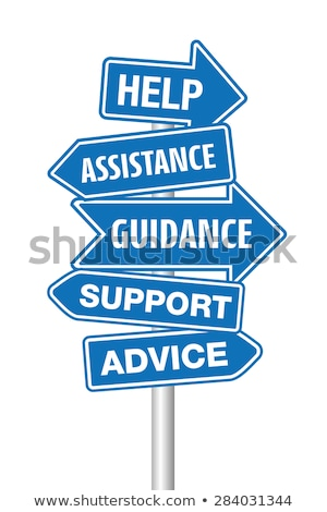 assistance, support, guidance in arrows Stock photo © marinini