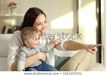 Szczęśliwy baby dumny matka chick domu Zdjęcia stock © ozgur