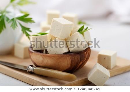 сырой Тофу древесины фон свежие диета Сток-фото © M-studio