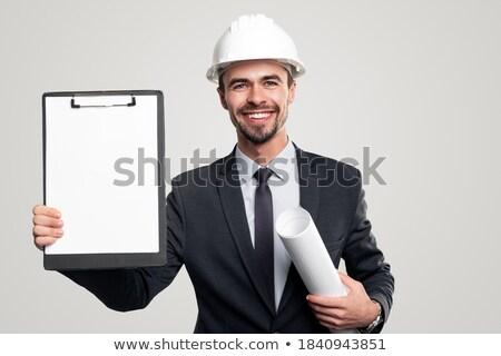 инженер чертежи здании строительство портрет Сток-фото © photography33