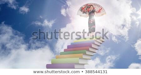 Сток-фото: женщину · традиционный · шелковые · кимоно · большой